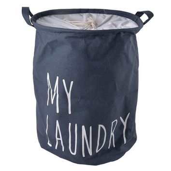 Urijk 2018 HOT MY LUNDRY Four Color Cotton Linen Laundry Baskets Storage Barrels Waterproof Binding Dirty Clothes Toys Storage