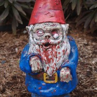 Zombie Garden Gnome Walking Dead by dougfx on Etsy