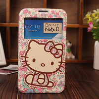 Samsung Galaxy Note 2 Phone Case Hello kitty Cute Samsung Note 2 Otterbox, samsung galaxy note 2 otter box, samsung galaxy note 2 flip cover