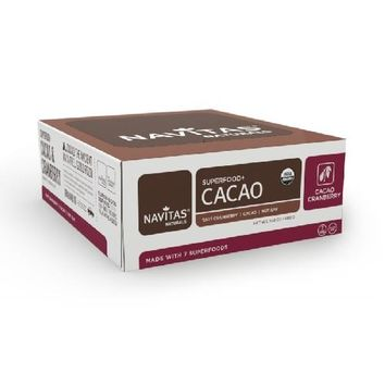 Navitas Naturals  Superfood+Bar Cacao Cranberry (12x1.4 OZ)