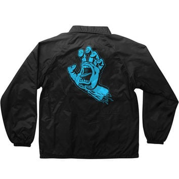 Santa Cruz Hand Coach Windbreaker Jacket - Black