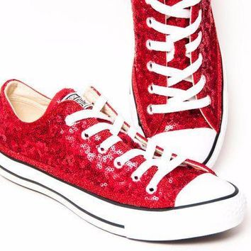 303084f92c737b CREYUG7 Starlight Sequin Name Brand Canvas Low Tops