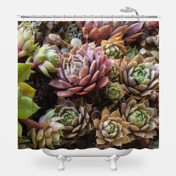 Sweetest Succulents Shower Curtain