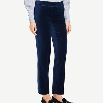 The Ankle Pant In Velvet | Ann Taylor