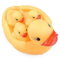Bewitching Yellow Duck'S Family Lovely Safe Rubber Squeaky Baby Water Toys Hot Selling Classic Kids Bath Toy [8424333959]