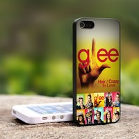 Glee TV Drama Series Logo - For iPhone 5 Black Case Cover