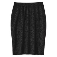 Xhilaration® Juniors Animal Print Pencil Skirt - Black