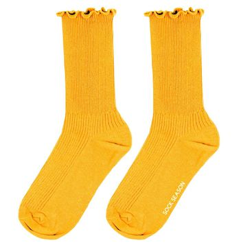 Princess Lulu Ruffle Sock | Yellow