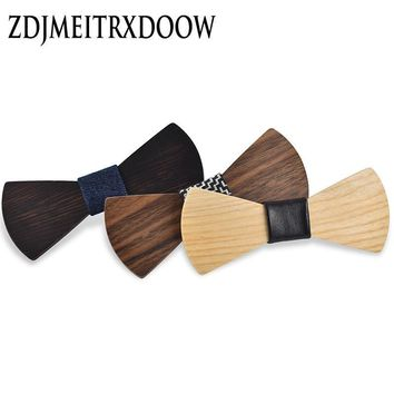 New 2016 Fashion design Personality Wooden Bow Tie Butterfly Ties For Men Jewelry Accessories
