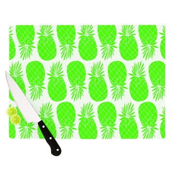 "Anchobee ""Pinya Neon Green"" Lime Pattern Cutting Board"