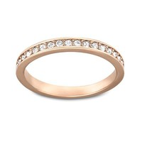 Swarovski Crystal Rare Ring, Rose Gold Size 7