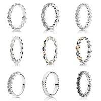 Alluring Briliant Marquise Ring With Crystal 925 Sterling Silver Signature Ring For Women Wedding Gift DIY Pandora Jewelry