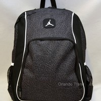 "Nike Air Jordan Backpack 15"" Laptop Jumpman Black Computer Elephant Men Bag"