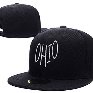 RHXING State Name Ohio Symbol Logo Adjustable Snapback Embroidery Hats Caps