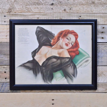 Vintage Pinup Girl Art, Original Varga For Esquire, Vintage Vargas Girl