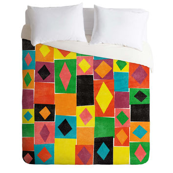 Nick Nelson Elementary Diamonds Duvet Cover