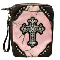 Camo Bible Case | Pink Camo Leather Bible Case $28.99