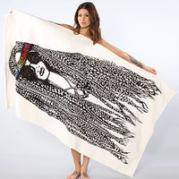 Lauren Moshi Beach Towel Gidget Hippie in White