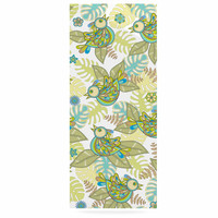 "Julia Grifol ""Summer Birds"" Green Lime Luxe Rectangle Panel"