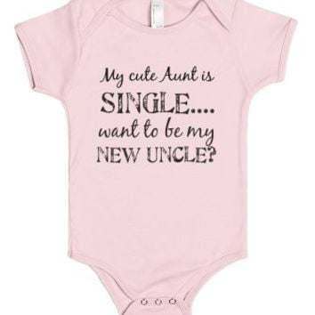 Single Aunt-Unisex Light Pink Baby Onesuit 00