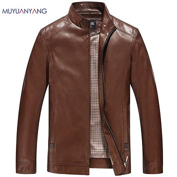 Men's Leather Jackets Faux Leather Motorcycle Jackets Leather Thick Coats Outerwear For Male Clothing