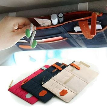 Sun Visor Point Organizer Pouch Bag Pocket Card Storage Holder In-Car IP