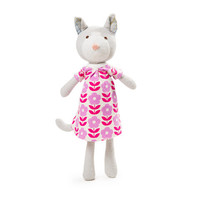 Gracie Cat Organic Doll, Winter Water Factory Dress-  Limited Edition