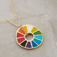 Colorwheel Pendant Necklace by Yellow Owl Workshop Gold One Size Necklaces
