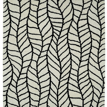 Dynamic Rugs Palace Black/White Modern Rectangle Area Rug