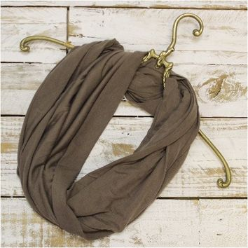 SALE scarf - taupe jersey