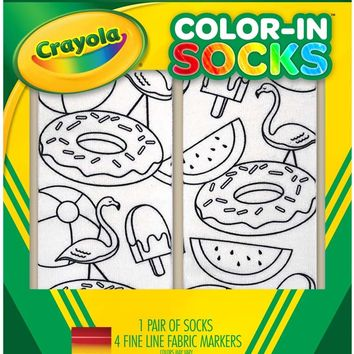 Color-In Socks Pool Party