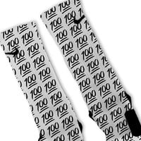 Keep It 100 Emoji Customized Nike Elite Socks!!
