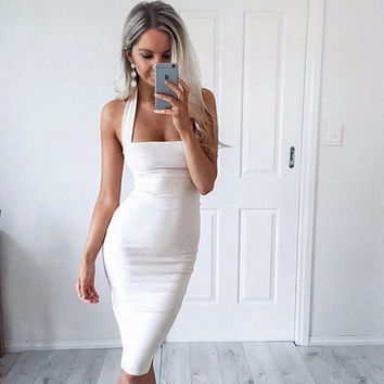 Women Summer Elegant Celebrity Sleeveless Bandage dress Wear To Work Office Party Cocktail Slim Casual Plus Size Midi Dress2016
