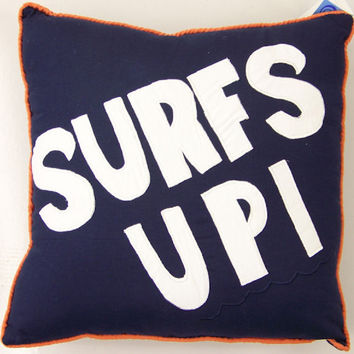 Catch a Wave Surfs Up Pillow