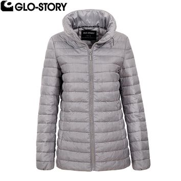 GLO-STORY Women 2017 New Slim Fit Winter Thin Padded Jacket Women Autumn Jackets Coats WMA-5058