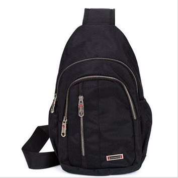 Dual Functional One Strap Mochilas Women Men Single Strap Backpack chest pack  male female small canvas crossbody bag  shoulder