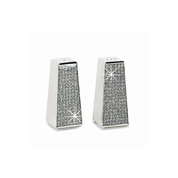 Nickel-plated Glitter Galore Salt & Pepper Shakers