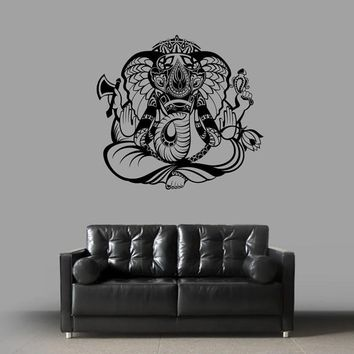 ik1822 Wall Decal Sticker Hindu elephant god Ganesh living room bedroom