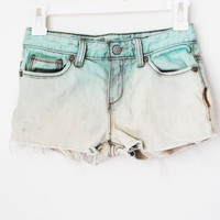 Mint Ombre Shorts