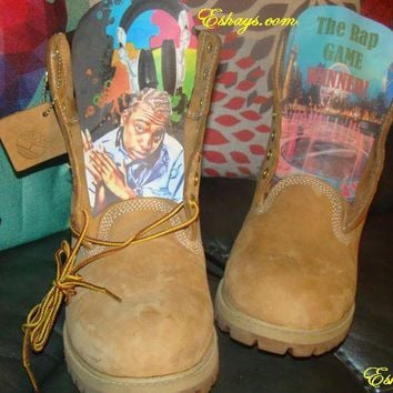 Customize Boots - Mani the Rapper from the Rap Game Timberland Boots