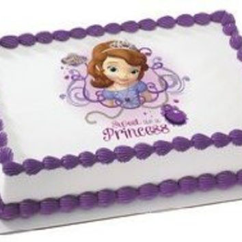 Sofia The First Edible Image Cake Cupcake and Cookie Topper (1/4 Sheet)