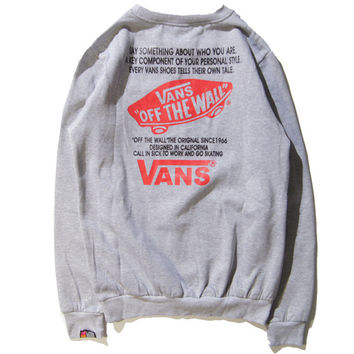 Vans Unisex Fleece Korean Style Round-neck Casual Hoodies [9506897159]