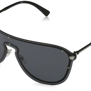 DCK4S2 Versace Women's Shield Sunglasses