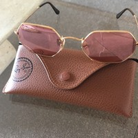 Ray Ban Hexagonal Rose Gold
