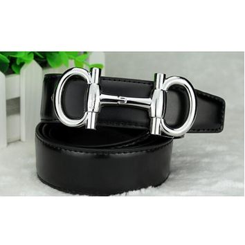 Ferragamo  Fashion Trends Buckle Belt Leather Belt