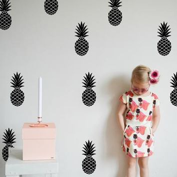 Unique!! Pineapple Removable Vinyl DIY Wall Decals