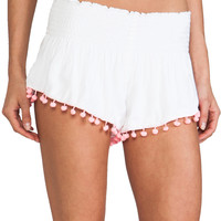 lolli swim Bailar Shorts in White