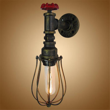 Ac 110V-240V E27 Vintage Edison Lighting Retro Wall Lamp Base Holder One Head Loft Industrial Iron Pipe Lighting