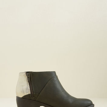 Counter Me In Vegan Block Heel Bootie