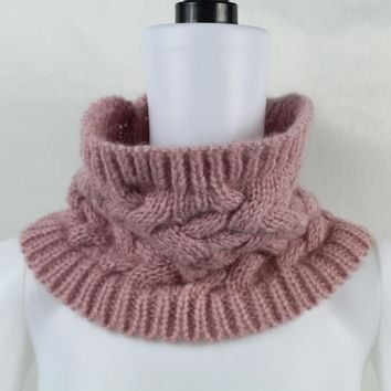 Women Men Winter Warm Infinity Cable Woolen Knitted Neck Cowl Collar Scarf Shawl